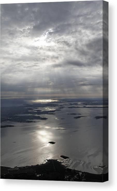 Bretagne Canvas Print featuring the photograph The Gulf Of Morbihan, Saint Colombier by Laurent Salomon