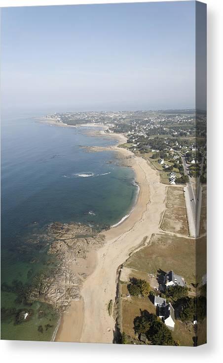 Europe Canvas Print featuring the photograph Turballe Shoreline, La Turballe by Laurent Salomon