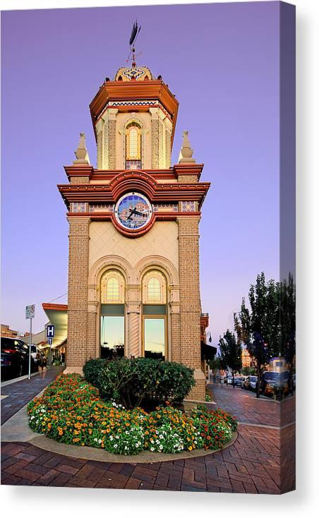 Clocktower Canvas Print featuring the photograph Clocktower by Ryan Heffron