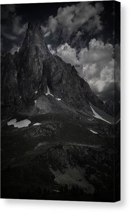 Courmayeur Canvas Print featuring the photograph Darkness Comes In Claree Valley by Jon Glaser