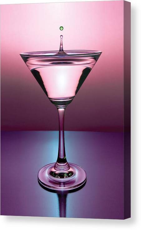 Martini Canvas Print featuring the photograph Martini Drop by Ryan Heffron