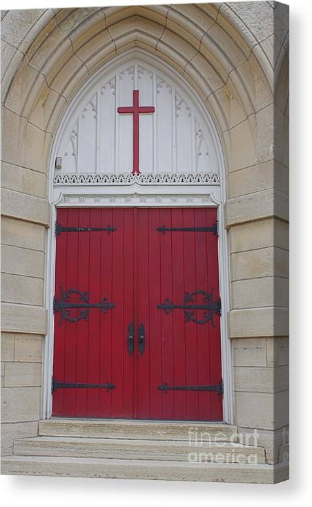 Church Canvas Print featuring the photograph Welcome by Lindsay Felty