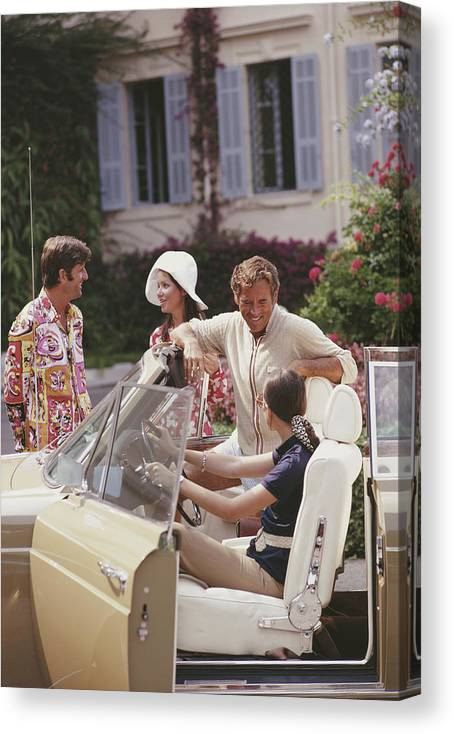 People Canvas Print featuring the photograph French Holiday by Slim Aarons