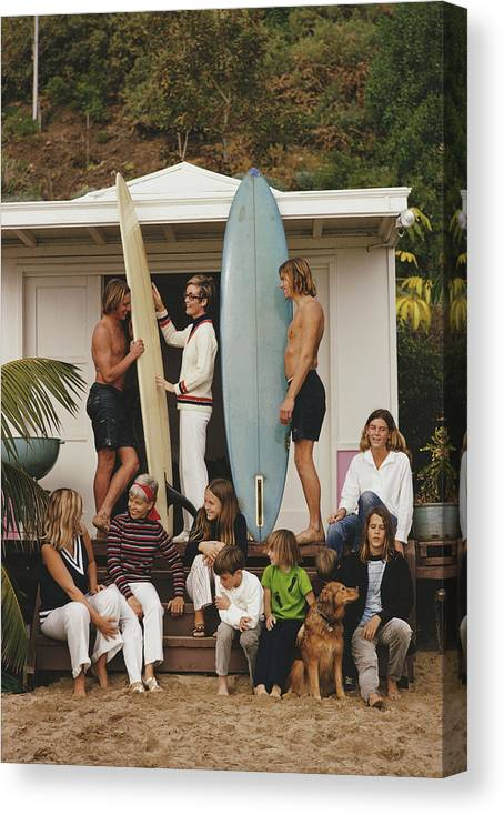 Pets Canvas Print featuring the photograph Laguna Beach by Slim Aarons