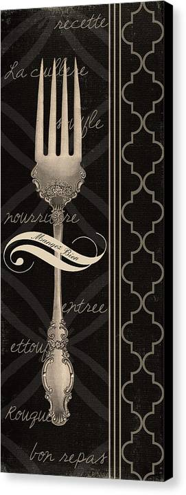 Fork Canvas Print featuring the digital art The Fork by Marilu Windvand