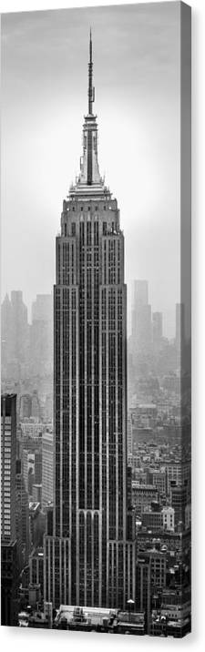 Empire State Building Canvas Print featuring the photograph Pride Of An Empire by Az Jackson