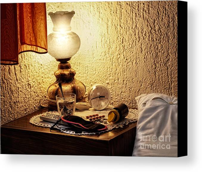 Wakefulness Canvas Print featuring the photograph Insomnia by Sinisa Botas
