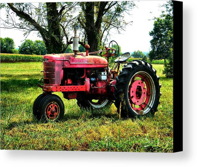 Antique Canvas Print featuring the photograph Antique Tractor by Julie Dant