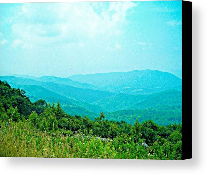 Mountains Canvas Print featuring the photograph Blue Ridge Mountains by Vicki Dreher