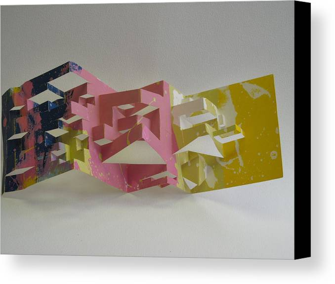 Silk Screen Print Canvas Print featuring the sculpture Paper Architecture by Alfred Ng