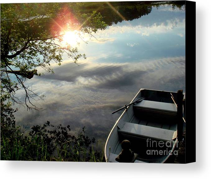 Water Canvas Print featuring the photograph On The Bayou by Jaunine Roberts