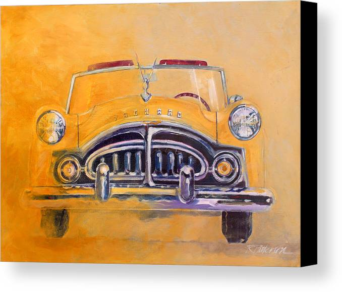 Transportation Canvas Print featuring the painting 1951 Packard Clipper by Ron Patterson