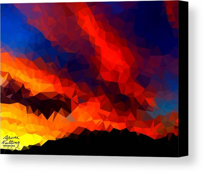 Sunset Canvas Print featuring the painting Stained Glass Sunset by Bruce Nutting