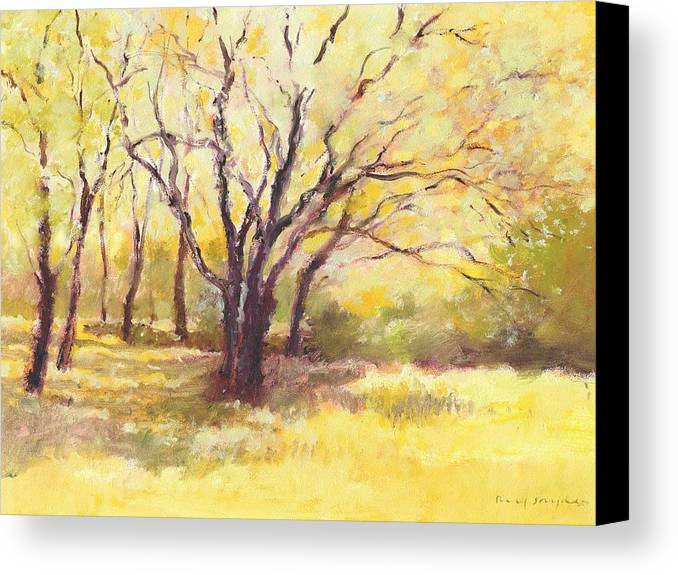 Trees Canvas Print featuring the painting Trees2 by J Reifsnyder