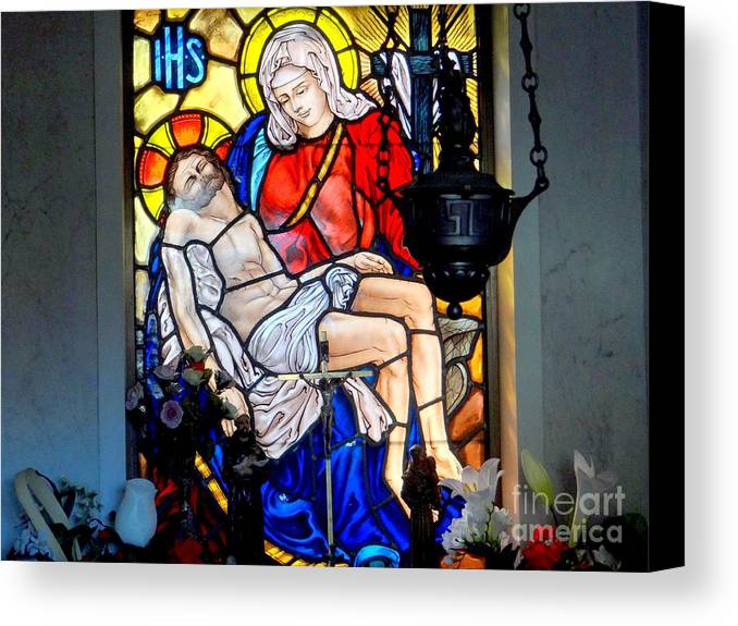 Stained Glass Canvas Print featuring the photograph Untitled by Ed Weidman
