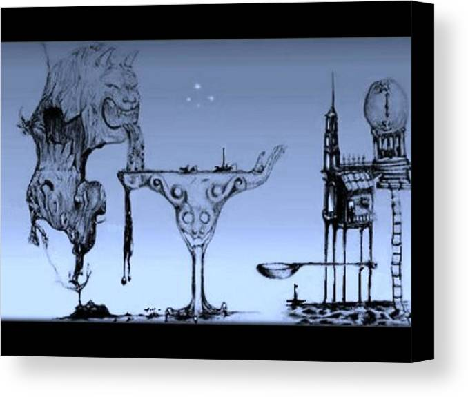 Canvas Print featuring the digital art Blue by David Astete