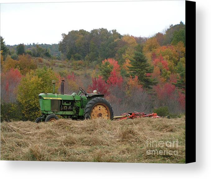 924 d749 john deere tractor on woodsom farm in amesbury ma canvas print canvas art by robin. Black Bedroom Furniture Sets. Home Design Ideas