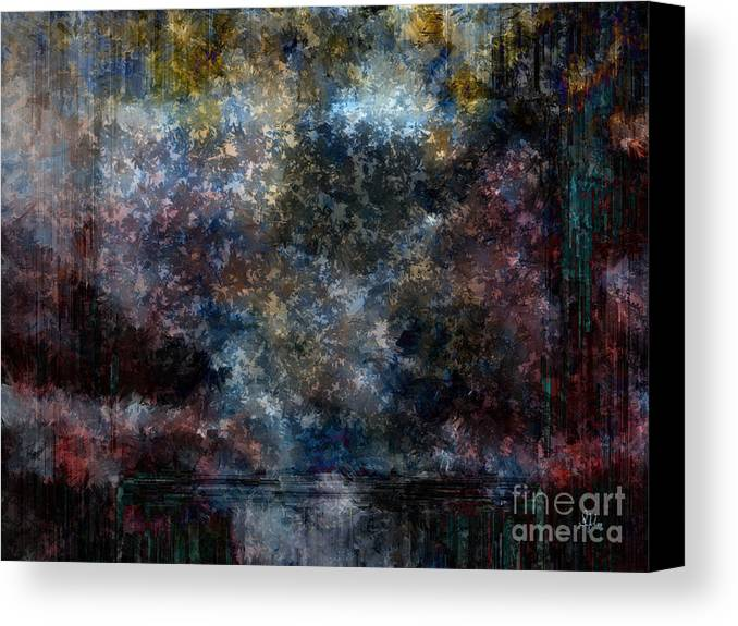 Abstract Canvas Print featuring the painting A Summer's Evening by Sydne Archambault