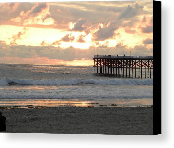 Seascape Canvas Print featuring the photograph A Welcoming End by John Wilson