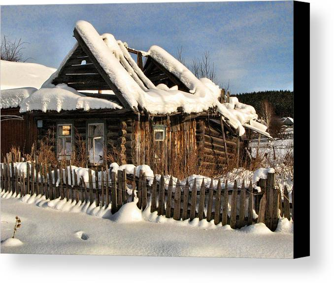 Winter Canvas Print featuring the photograph Abandoned by Vladimir Kholostykh