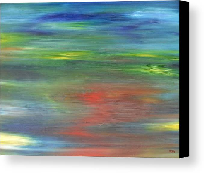 Abstract Canvas Print featuring the painting Abstract 421 by Patrick J Murphy