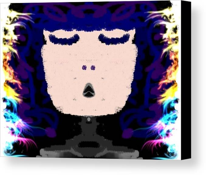 Lady Canvas Print featuring the photograph Abstracted Lady by Caroline Gilmore