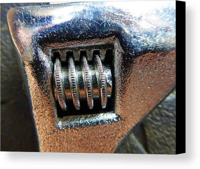 Hammer Canvas Print featuring the photograph Adjustable Wrench by Laurie Tsemak