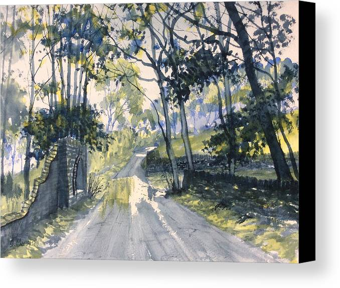 Glenn Marshall Canvas Print featuring the painting After The Storm On Woldgate by Glenn Marshall