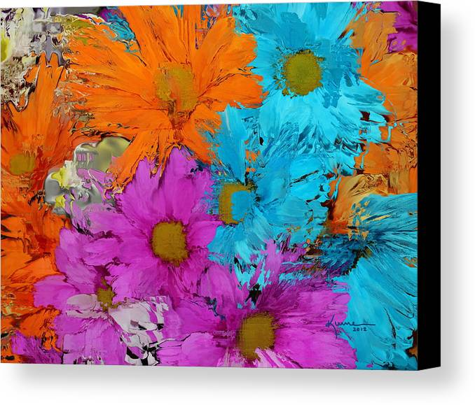 Flower Canvas Print featuring the photograph All The Flower Petals In This World 2 by Kume Bryant