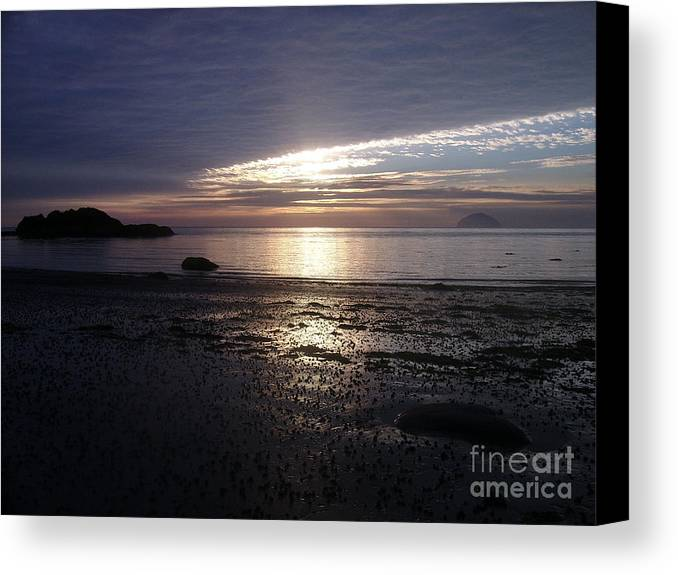 Sunset Canvas Print featuring the photograph Almost Dark by Alan Wilson