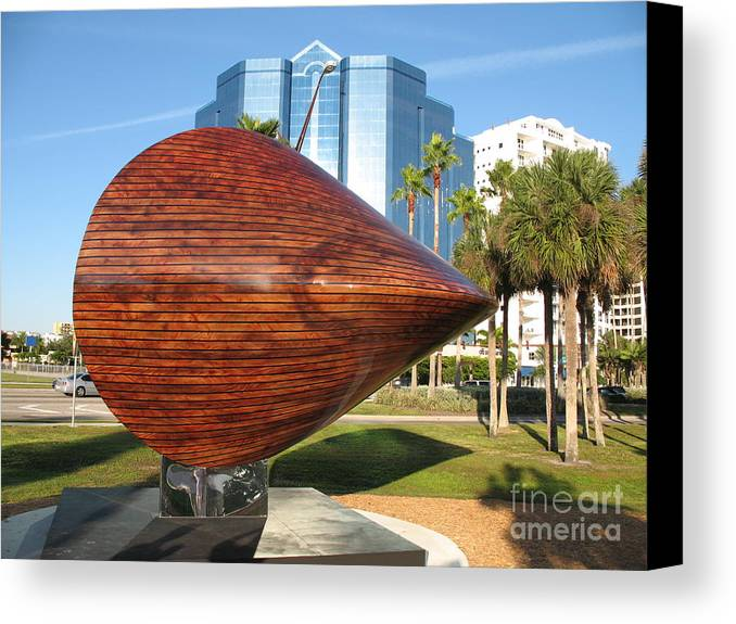 Art Canvas Print featuring the photograph Art 2009 At Sarasota Waterfront by Christiane Schulze Art And Photography