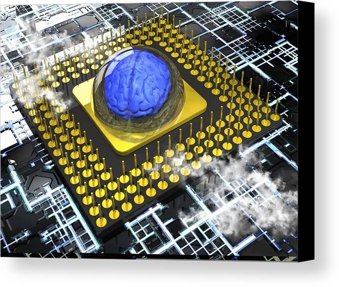 A.i. Canvas Print featuring the photograph Artificial Intelligence, Conceptual by Science Photo Library