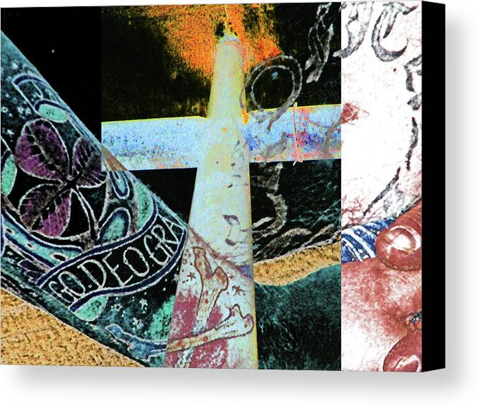 Abstract Canvas Print featuring the photograph Aryan Brotherhood Exposed by Lenore Senior