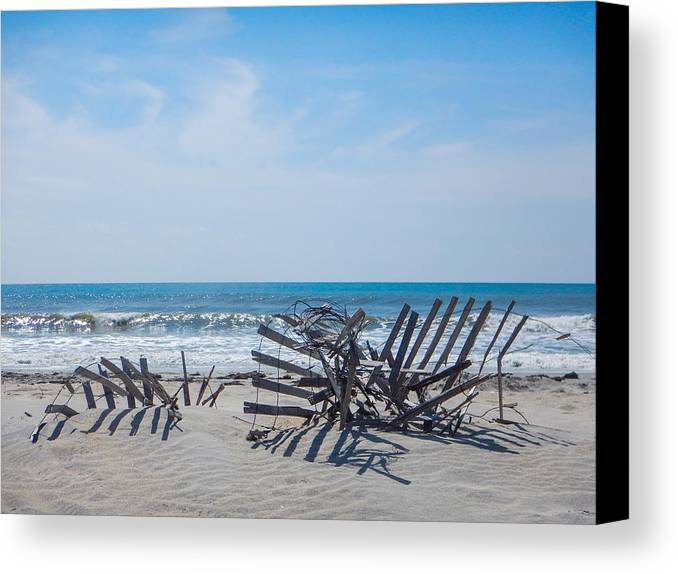 Portsmouth Island Canvas Print featuring the photograph At Odds by Paula OMalley