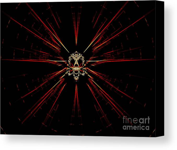 Digital Canvas Print featuring the digital art At The Core by Renee Trenholm