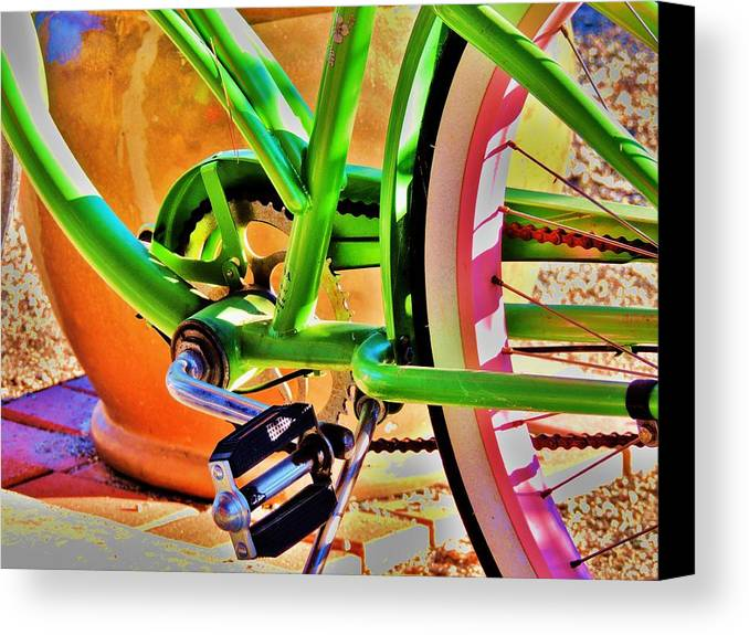 Beach Cruiser Canvas Print featuring the photograph Beach Cruiser by Helen Carson