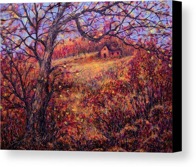 Autumn Canvas Print featuring the painting Beautiful Autumn by Natalie Holland
