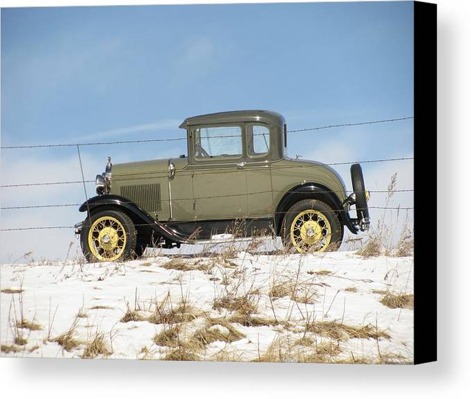 Transportation—plane Canvas Print featuring the photograph Behind The Fence by Steven Parker