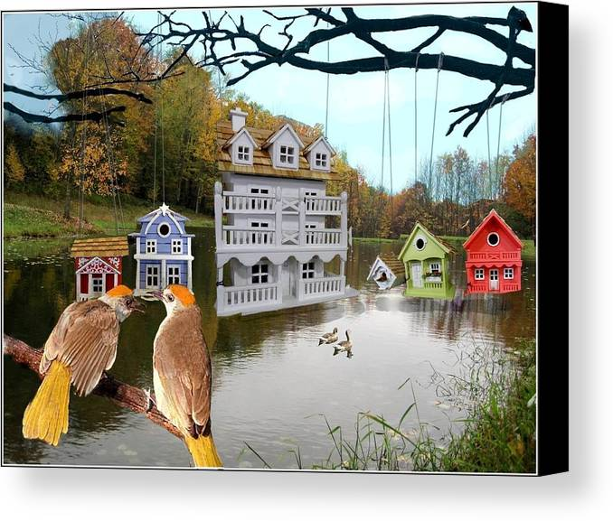 Canvas Print featuring the digital art Big House Show Offs by Alan Richards