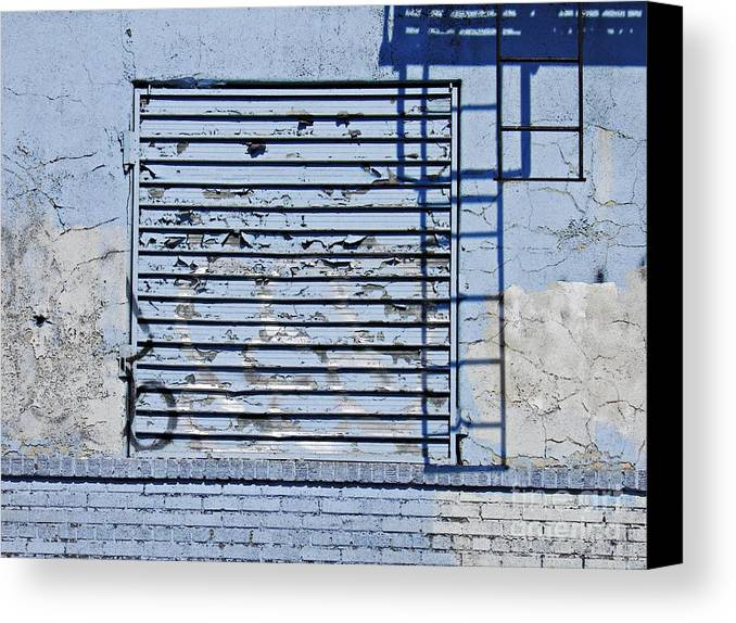 Wall Canvas Print featuring the photograph Blue Wall by Sarah Loft