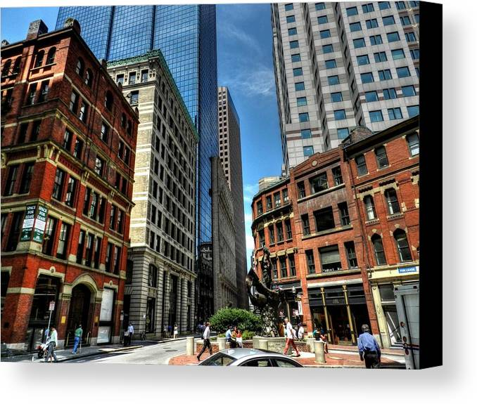 Boston Canvas Print featuring the photograph Boston 007 by Lance Vaughn
