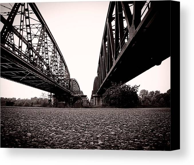 Canvas Print featuring the photograph Bridges Over by Matteo Musso