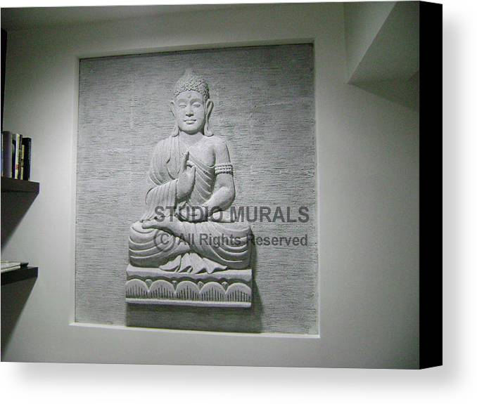 Murals Canvas Print featuring the sculpture Buddha by Milind Badve