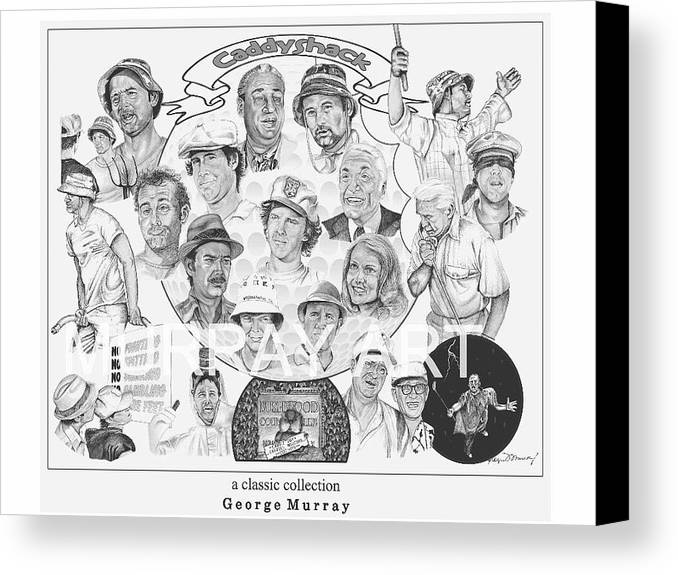 caddy shack collage canvas print canvas art by george murray