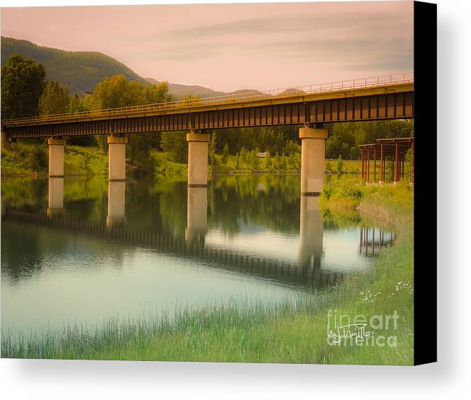 Sancreek Canvas Print featuring the photograph Calm Afternoon by Maria Trujillo