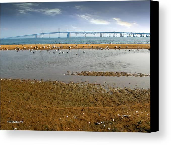 2d Canvas Print featuring the photograph Chesapeake Bay Bridge by Brian Wallace