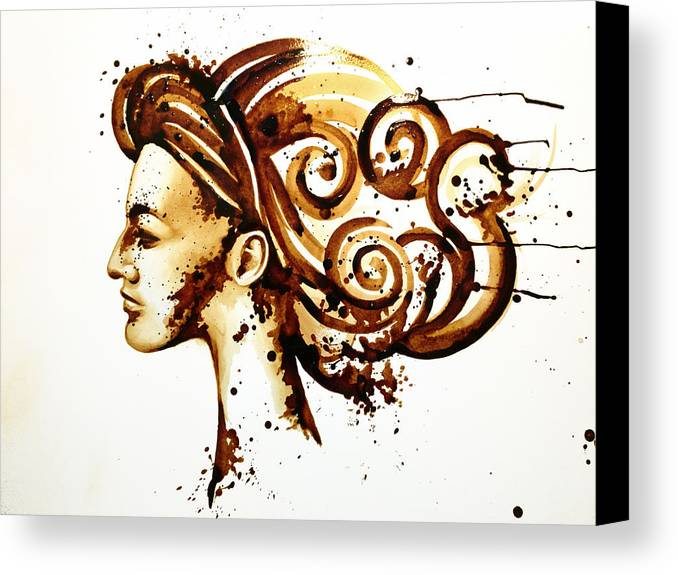 Painting Canvas Print featuring the painting Chili Powder by Ramona Nordal