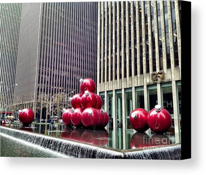 Christmas Balls Canvas Print featuring the photograph Christmas Balls by Donald Groves