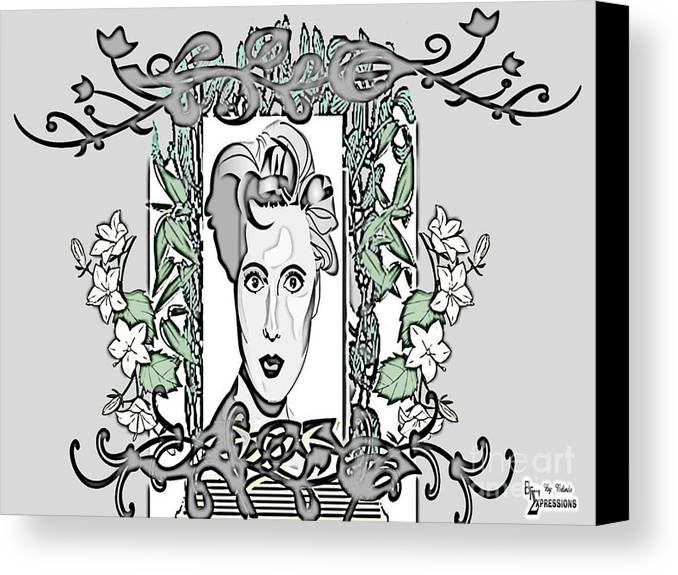 Female Face Canvas Print featuring the drawing Classic by Belinda Threeths
