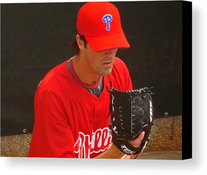 Baseball Canvas Print featuring the photograph Cole by David Rucker